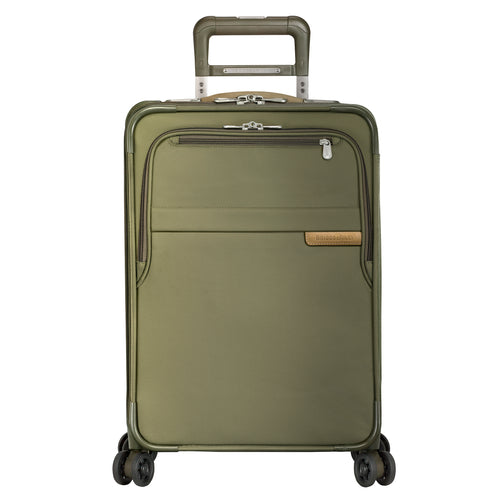 "Briggs & Riley Baseline 22"" Domestic Carry-On Expandable Spinner - Olive 