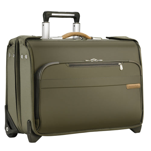 "Briggs & Riley Baseline 15"" Carry-On Wheeled Garment Bag - Olive 