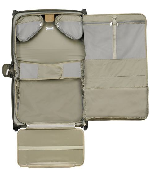 "Briggs & Riley Baseline 15"" Carry-On Wheeled Garment Bag - Olive"