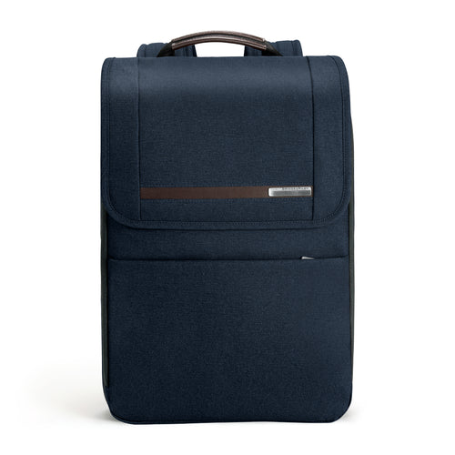 Briggs & Riley Kinzie Street Flapover Expandable Backpack - Navy | MEGO