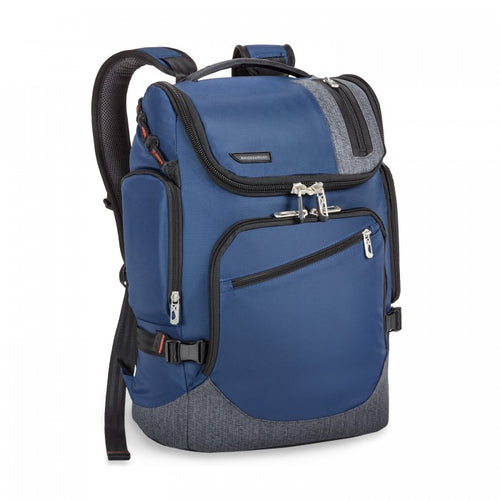 Briggs & Riley BRX Excursion Backpack-Blue | MEGO