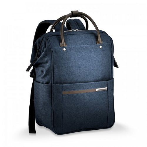 Briggs & Riley Kinzie Street Framed Wide-mouth Backpack - Navy | MEGO