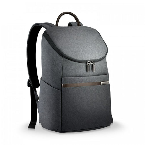 Briggs & Riley Kinzie Street Small Wide-mouth Backpack - Grey | MEGO