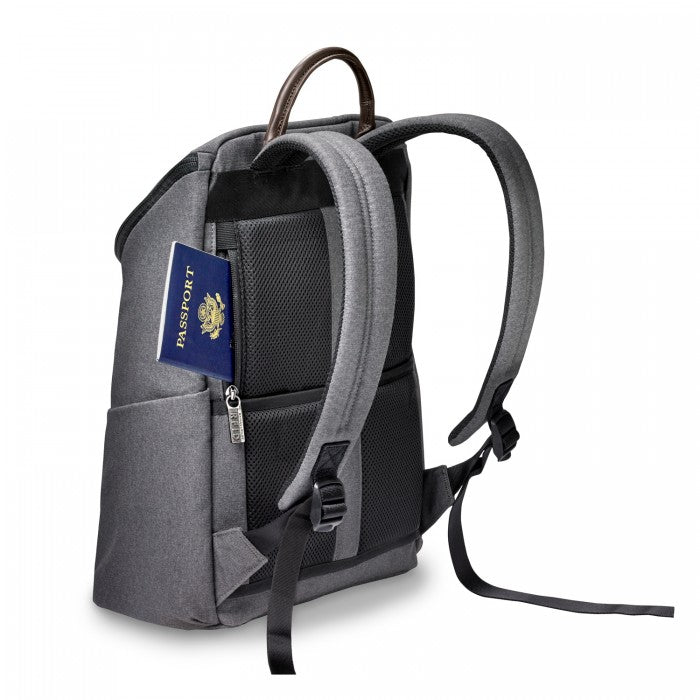 Briggs & Riley Kinzie Street Small Wide-mouth Backpack - Grey
