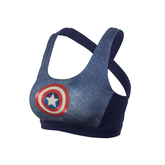 eb20ff30cd6b48 CAPTAIN AMERICA CROP TOP SPORTS BRA – ICONIC IMPULSE