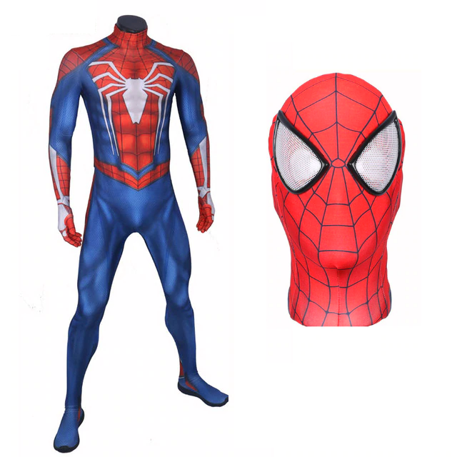 Spider Man Cosplay Costume Suit Ps4 Insomniac Video Game Style