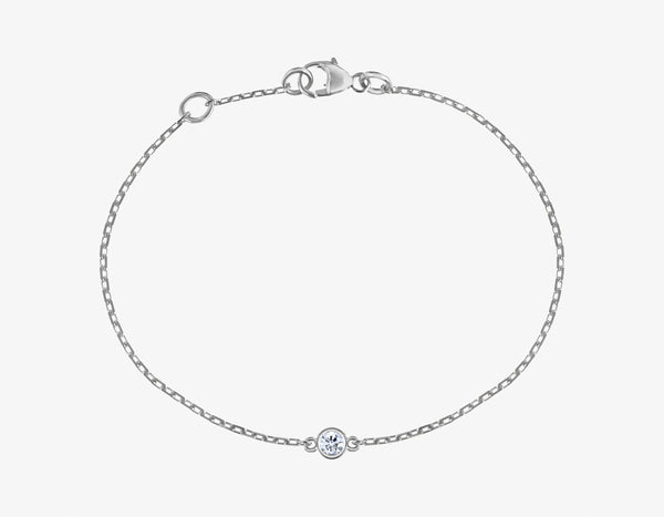 Diamond On a Link Bracelet