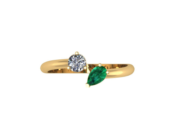 Gemstones Floating Ring