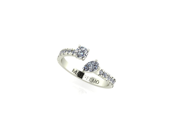 Paved Diamonds Floating Ring