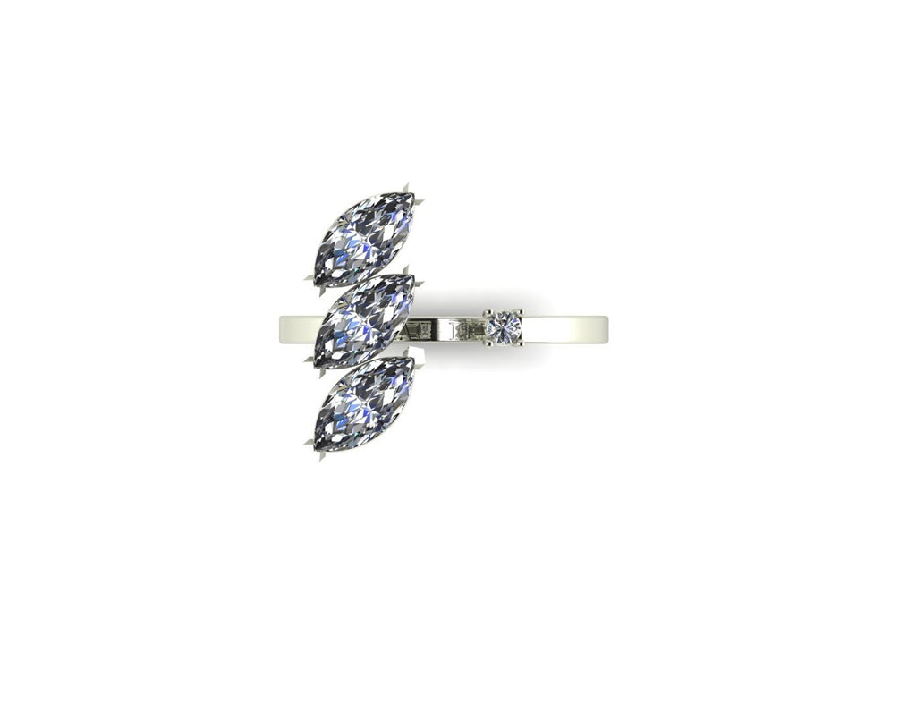 Marquise Diamond open ring