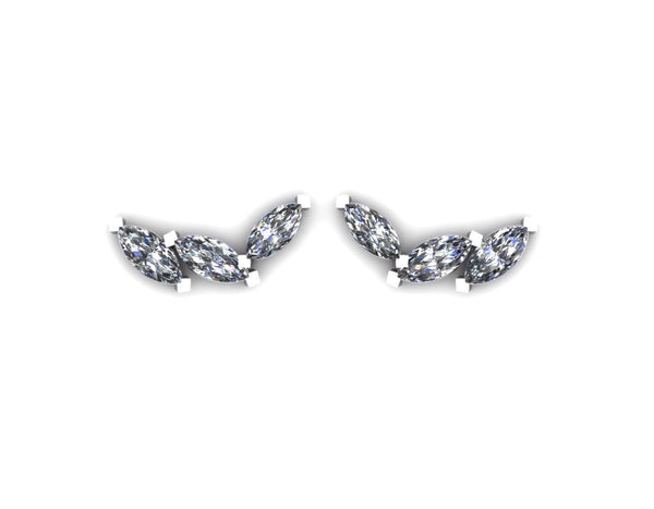 3 Marquise Diamonds Earrings