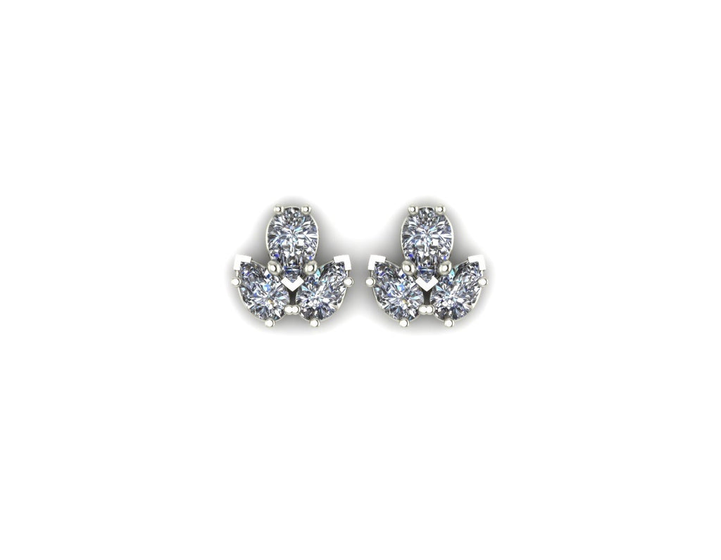3 Pears Diamonds Earrings