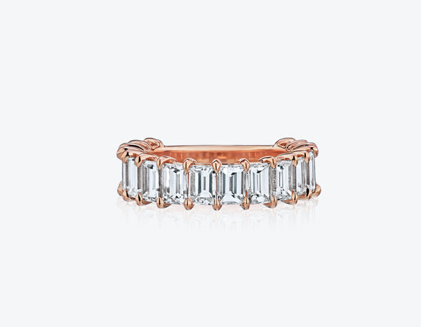 Emerald Cut Eternity Band .10