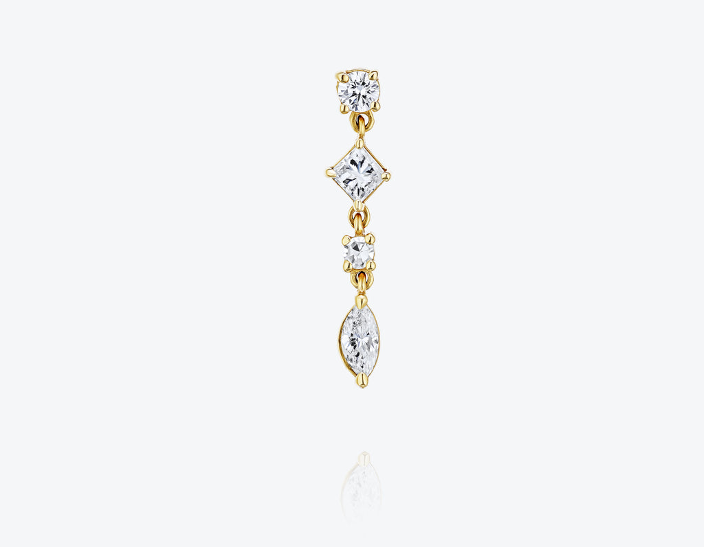 Dancing Diamonds Single Earring