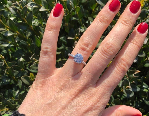 Solitaire Diamond Ring with hidden halo