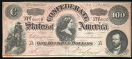 Confederate Currency $100 note Feb. 17th 1864,AU but is hinged on reverse. Nice color and overall appearance.