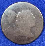 1795, Liberty Cap large cent, AG/P