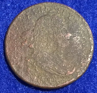1804 Draped Bust Half Cent - F,  - heavy corrosion on both sides