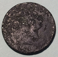 1804 Draped Bust Half Cent - F, crosslet stems - heavy corrosion and pitting. Exact coin imaged.