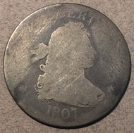 1807 Bust Quarter, Grade= Fair 2