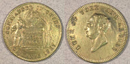 1827 Duke of York and Albany Token. Beloved by the army. Commander in chief. XF hairline scratches behind head.