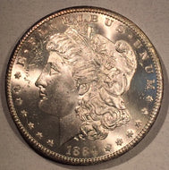 1884 CC Morgan Dollar, MS63