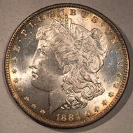 1884 Morgan Dollar, MS63