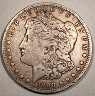 1890 CC Morgan Dollar, F