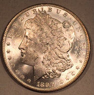 1890 O Morgan Dollar, MS63