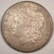 1891 S Morgan Dollar, AU, VAM 3 Top 100 varieties, doubled stars