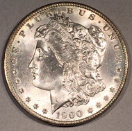 1900 O Morgan Dollar, MS62 VAM 15 Top 100 varieties, doubled stars