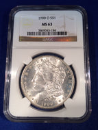 1900 O Morgan Dollar, NGC MS63