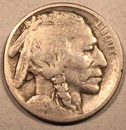 1913-D Var 2 Buffalo Nickel, Grade= VG