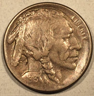 1913-S Var 1 Buffalo Nickel, Grade= AU, hub doubled face