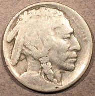 1913-S Var 2 Buffalo Nickel, Grade= G