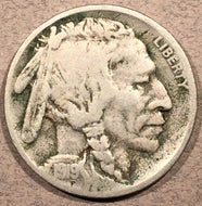 1919-D Buffalo Nickel, Grade= F