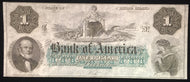 Obsolete Currency $1 Rhode Island: Bank of America. CU condition - blank reverse
