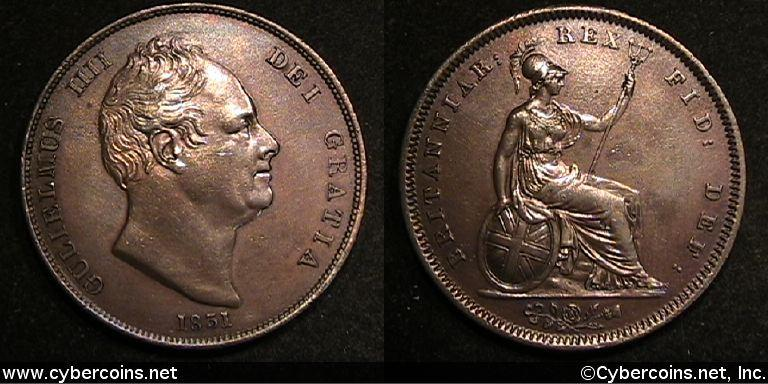 Great Britain, 1831, Penny, KM707 - AU -