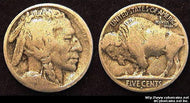 1913-S Var 2 Buffalo Nickel, Grade= G/VG