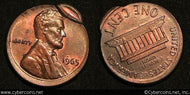 1965 ERROR Lincoln Cent, Grade= UNC - off