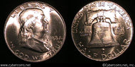 1948 Franklin Half Dollar, Grade= MS65
