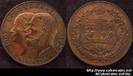 1927 Canadian Medal for the Confederation. AU