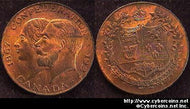 1927 Canadian Medal for the Confederation. UNC-