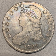 1829 Cap Bust Half Dollar, F/VF, nearly imperceptible bend