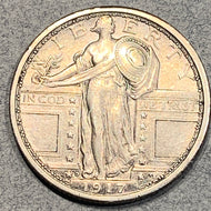 1917 D Type 1 Standing Liberty Quarter, AU