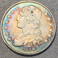 1836 Capped Bust Quarter, AU
