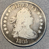 1805 Draped Bust Quarter, VG10