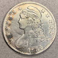 1832 Cap Bust Half Dollar, VF, polished and scratched