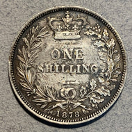 Great Britain, 1878, Shilling, XF cleaned at some point.
