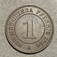 German New Guinea, 1894A, 1 Pfennig, KM570, AU